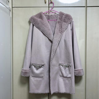 tocco - burlone ポケットビジュー 付きコート