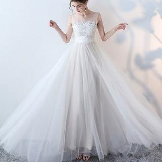 Mサイズ ホワイトウエディングドレス
