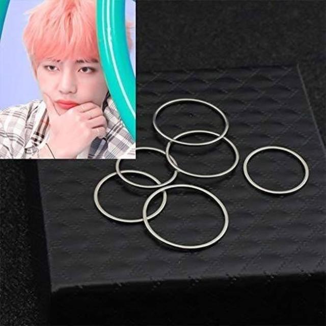 五個 リング 指輪 フリーサイズ メンズのアクセサリー(リング(指輪))の商品写真
