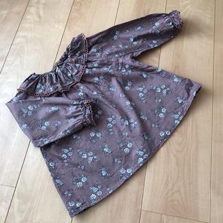 futafuta - テータテート 花柄 ブラウス 90 95