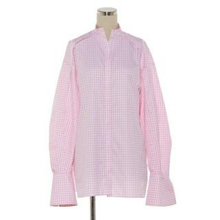 ドゥロワー(Drawer)の春色シクラス新品ギンガムチェックシャツ34ドゥロワーblaminkyori(シャツ/ブラウス(長袖/七分))