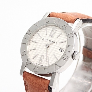 BVLGARI - 【BVLGARI】ブルガリ腕時計 BB26SS ギョーシェ文字盤 ☆新型モデル☆