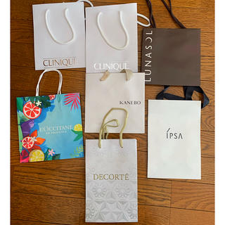 クリニーク(CLINIQUE)の化粧品ブランド紙袋セット(ショップ袋)