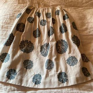 ミナペルホネン(mina perhonen)のミナペルホネン スカート 36(ひざ丈スカート)