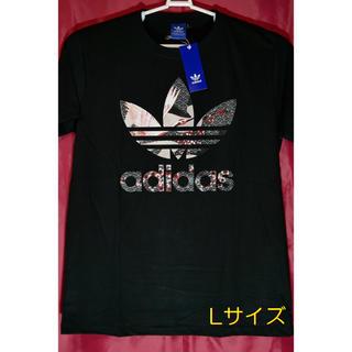 adidas - adidas アディダス ビッグロゴ 和柄鶴 Lサイズ
