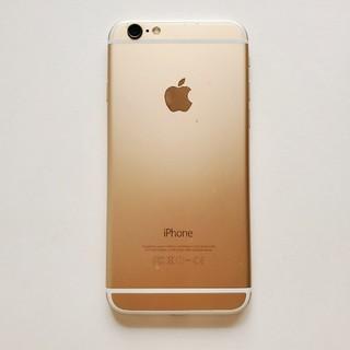 アイフォーン(iPhone)の【中古】iPhone6 16GB ゴールド SIMフリー(スマートフォン本体)