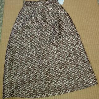 ゴールドのスカート(ひざ丈スカート)