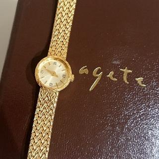 アガット(agete)の定価72600円❇️agete 4Pダイヤ 華奢ウォッチ(腕時計)