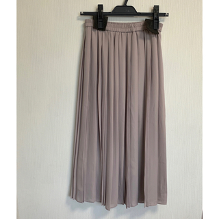 UNIQLO - ピンクグレー ユニクロ プリーツスカート