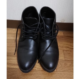 ユニクロ(UNIQLO)のショートブーツ ブラック L(ブーツ)