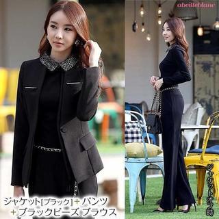 新品 黒2L スーツ四点セット ビジネス セレモニー 021-015(スーツ)