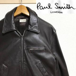Paul Smith - 希少!ポールスミス・ロンドン カウレザー(牛革)ライダースジャケット