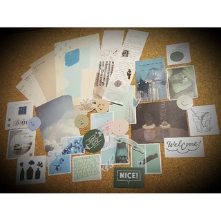 海外 ステッカー シール メモ カード 抽象 アート スクラップブック(その他)
