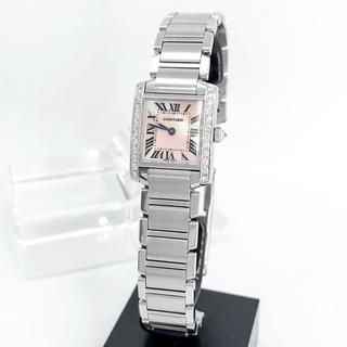 Cartier - 【仕上済】カルティエ フランセーズ ピンク ダイヤ レディース 腕時計