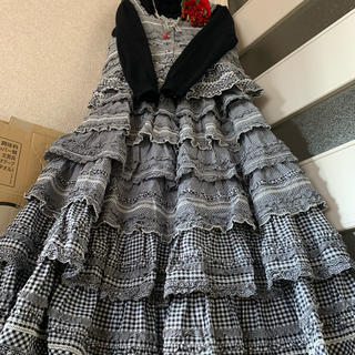 PINK HOUSE - お値下げ 美品 凝りに凝った6段被せ段々スカートとお揃いのキャミブラウス PH