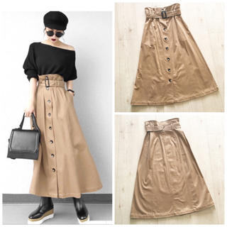 moussy - MOUSSY FRONT BUTTON LONG SKIRT