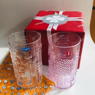 イッタラ(iittala)の新品 イッタラ  フローラ タンブラー  23 ペールピンク クリア プレゼント(グラス/カップ)
