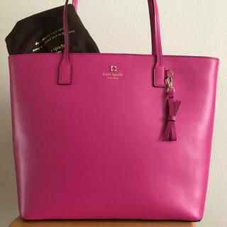 kate spade new york - 美品‼︎ A4OK きれい色 ケイトスペード レザートート ピンクパープル