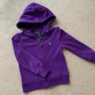 POLO RALPH LAUREN - 美品 ラルフローレン パーカー 100 紫 パープル 女の子