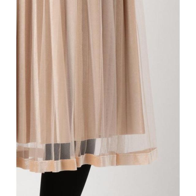 MISCH MASCH(ミッシュマッシュ)の新品  LODISPOTTO ベロアチュールプリーツロングスカート レディースのスカート(ひざ丈スカート)の商品写真