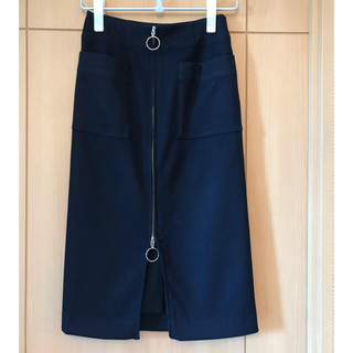 Noble - ノーブル フープジップタイトスカート ネイビー  34
