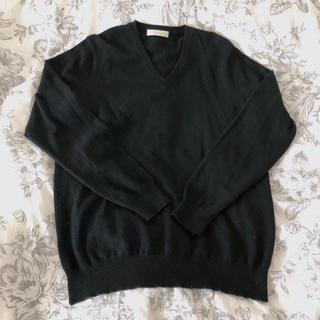 UNIQLO - 【UNIQLO】カシミヤ Vネックニット セーター ブラック