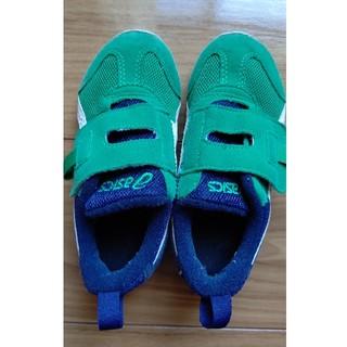 asics - アシックスシューズ靴グリーン緑16.5スニーカー