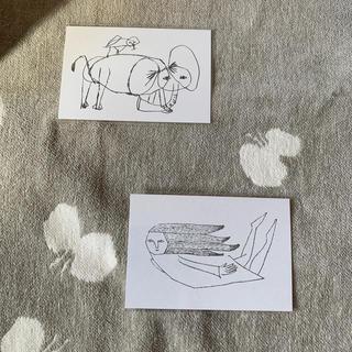 mina perhonen - ミナペルホネン  つづく展ポストカード