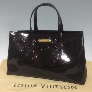 LOUIS VUITTON - LOUIS VUITTON 美品 ウィルシャー アマラント ヴェルニ ヴィトン