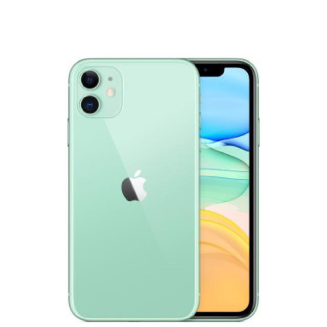 iPhone(アイフォーン)のiPhone11 64GB グリーン simフリー 新品未使用未開封 スマホ/家電/カメラのスマートフォン/携帯電話(スマートフォン本体)の商品写真