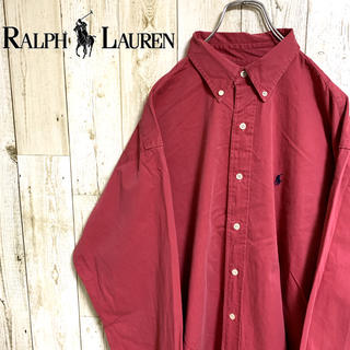 Ralph Lauren - 【レア】ラルフローレン☆ワンポイントロゴ刺繍 長袖BDシャツ