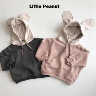 プティマイン(petit main)の裏起毛ネズミさんパーカー(Tシャツ/カットソー)