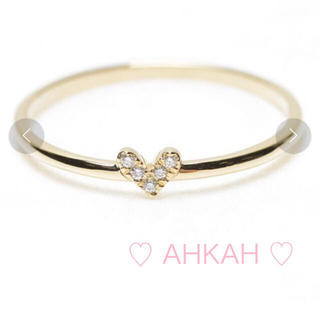 AHKAH - AHKAH  k18 ローラハートリング 10 号
