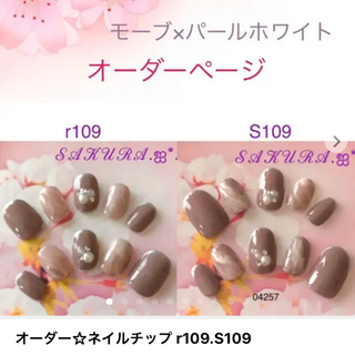 オーダー☆ネイルチップ r109.S109
