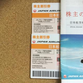 JAL(日本航空) - 【ラクマパック】JAL 株主優待券 2枚セット & 割引冊子1冊