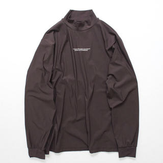 UNUSED - stein 20ss OVERSIZED HIGH NECK LS・BROWN