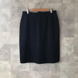 タイトスカート 膝丈 スーツ 黒 通勤着 仕事着 OL LL 大きいサイズ(ひざ丈スカート)
