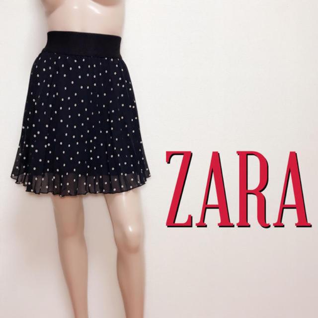 ZARA(ザラ)の爆かわ♪ザラ ドットプリーツ フレアスカート♡レッセパッセ ジルスチュアート レディースのスカート(ミニスカート)の商品写真