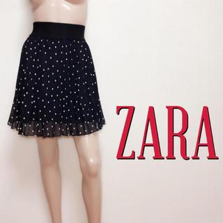ZARA - 爆かわ♪ザラ ドットプリーツ フレアスカート♡レッセパッセ ジルスチュアート