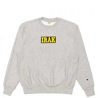 Supreme - IRAK Logo Crewneck Grey Lサイズ