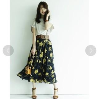JUSGLITTY - 新品タグ付 ジャガードフラワースカート