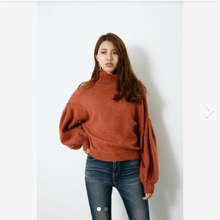 rienda - rienda リエンダ M/N Tuck Shoulder Knit TOP