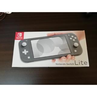 ニンテンドウ(任天堂)のSwitch lite gray ケース付き(携帯用ゲーム機本体)