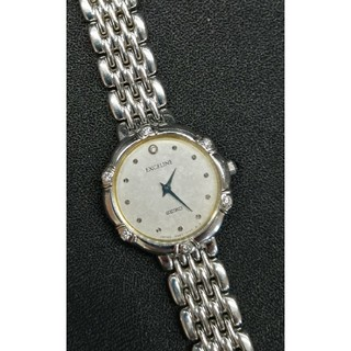 SEIKO - SEIKOセイコー エクセリーヌ 6Pダイヤ シルバー レディース腕時計 稼働品