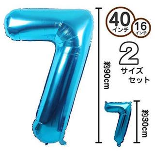 誕生日 バルーン 風船 数字 「7」 2サイズセット(アイドル)
