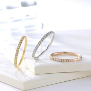 ヨンドシー(4℃)のオレフィーチェ  ハーフエタニティリング(リング(指輪))