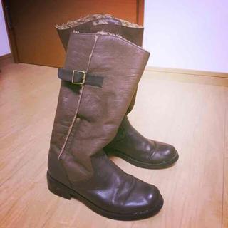 ムジルシリョウヒン(MUJI (無印良品))の無印 茶色ブーツ 23.5〜24.0(ブーツ)