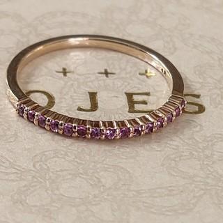 ノジェス(NOJESS)のノジェス K10 ピンクサファイア ピンキーリング(リング(指輪))