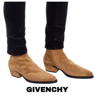 celine - GIVENCHY ジバンシィ ジップアップレザー ブーツ 42 スエード ヒール