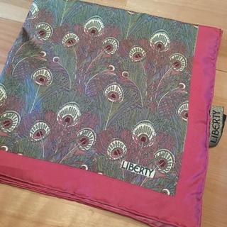 ★新品 未使用★ LIBERTY リバティ シルク スカーフ 絹 英国(バンダナ/スカーフ)